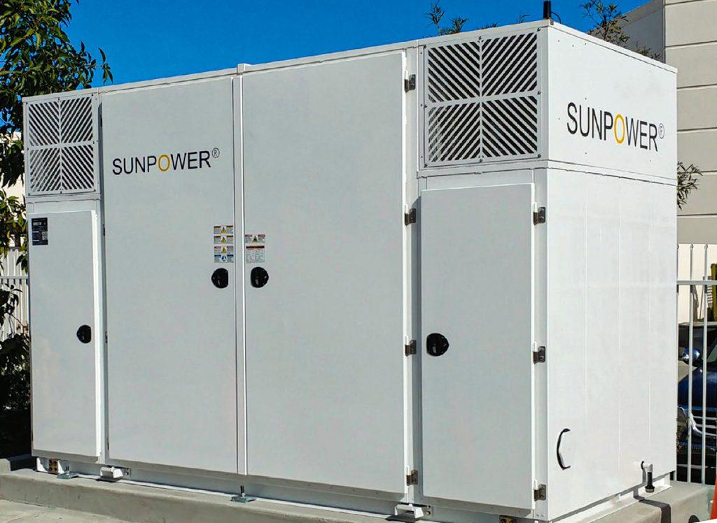 SunPower commercial energy storage in Oceanside