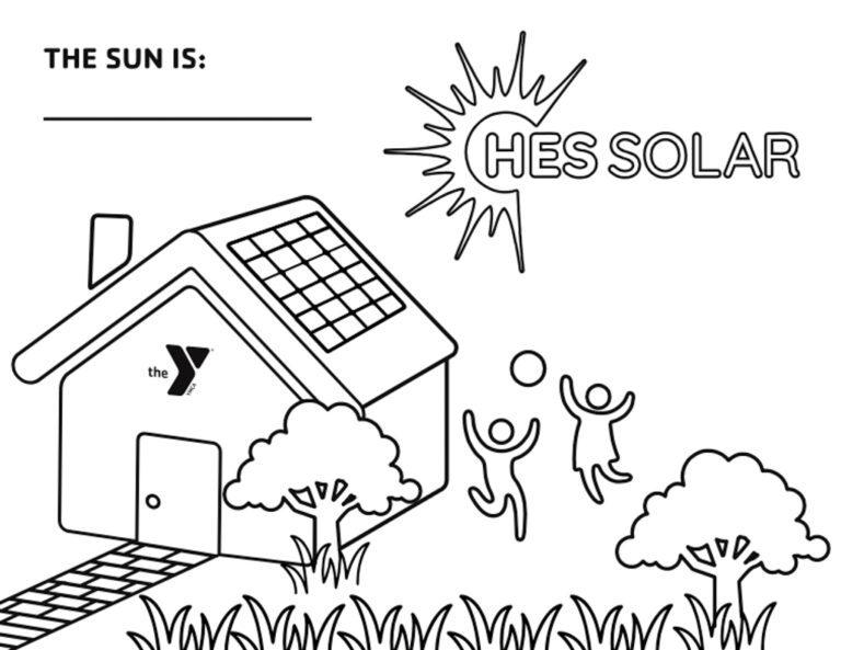 YMCA solar coloring contest artwork